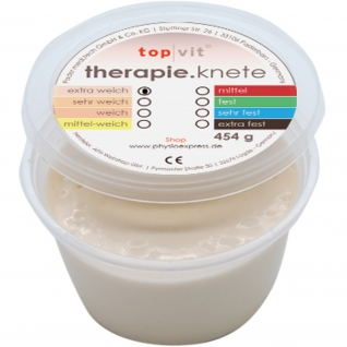 top vit® therapie.knetmasse extra weich, crem-weiß 454 g