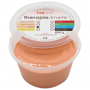 top|vit® therapie.knetmasse weich, beige 454 g