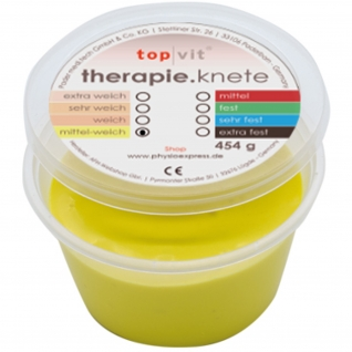 top|vit® therapie.knetmasse mittel-weich, gelb 454 g