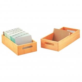 Karteitrog aus Holz, A5 quer für ca. 1500 Karten
