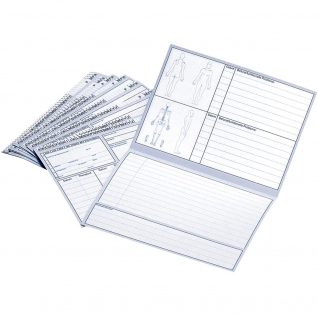 Karteikarten, Patientenkarten, gefaltet, 250 Stück